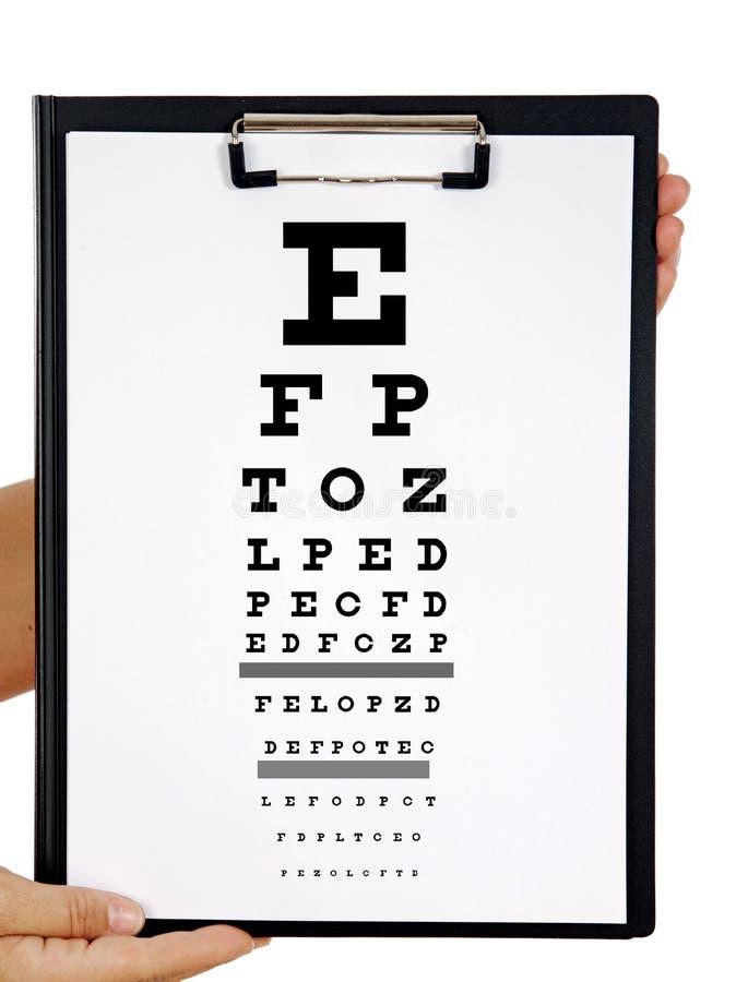 Cuide sus ojos fotografía de archivo