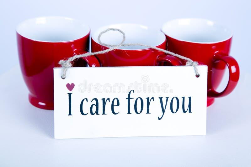 Cuido para usted el fondo del mensaje fotografía de archivo libre de regalías