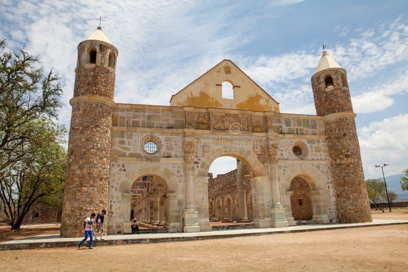 Cuilapam de Герреро (Оахака/Мексика), Бывший-монастырь stol ³ Сантьяго Apà стоковые изображения