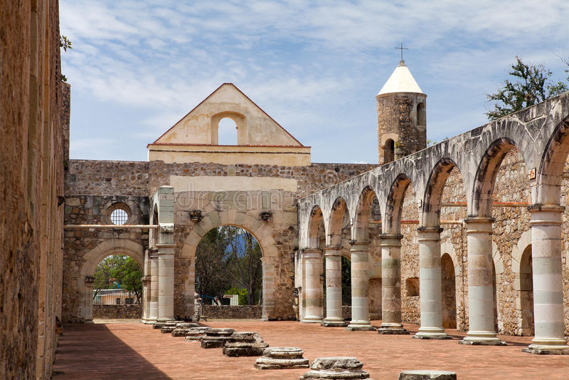 Cuilapam de Guerrero (Oaxaca/México), Ex-monasterio de Santiago A imágenes de archivo libres de regalías