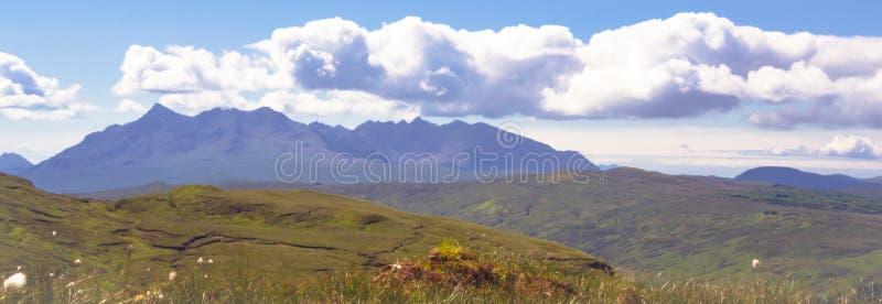 The Cuilin mountain range on the Isle of Skye, Scotland, UK royalty free stock photo