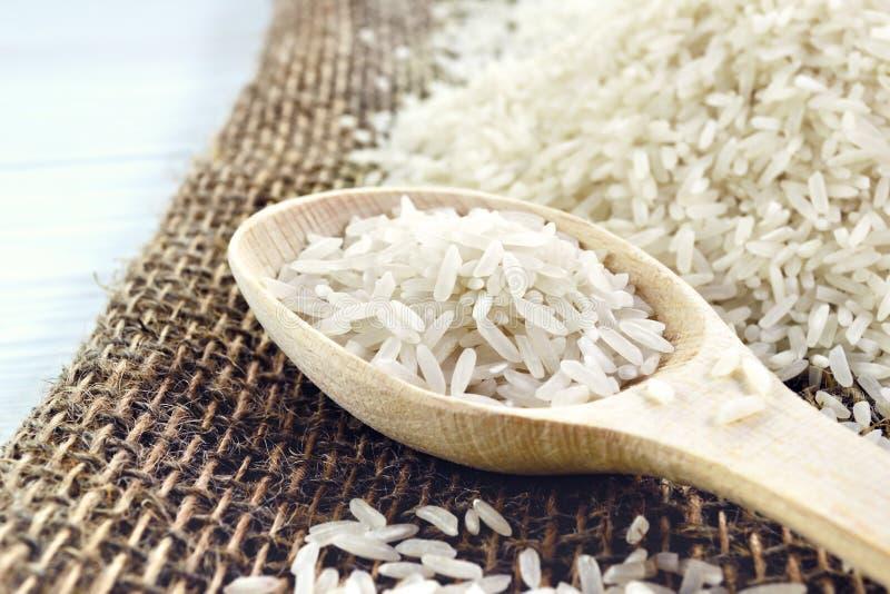 Cuillère avec du riz images libres de droits
