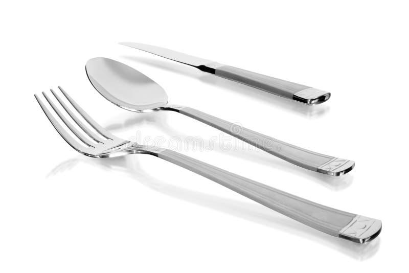 cuillère de couteau de fourchette images stock
