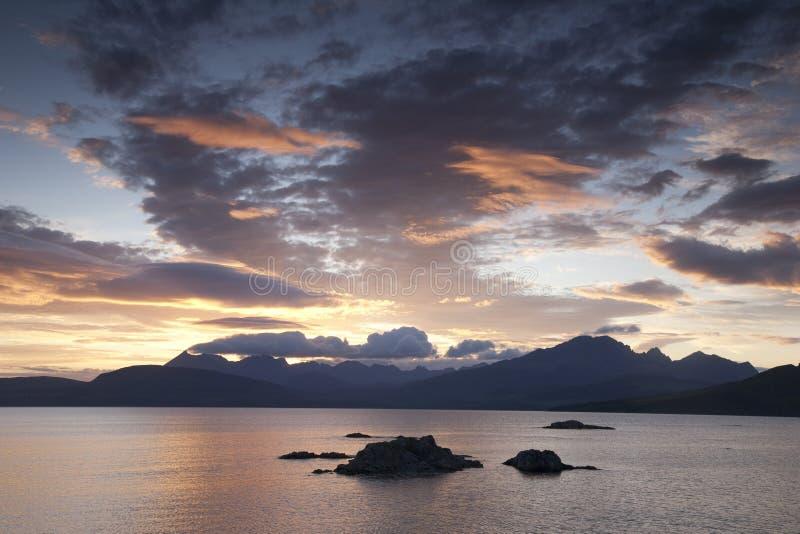 Cuillin小山, Skye小岛  免版税库存照片