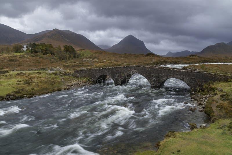 Cuillin-Hügel - Insel von Skye - Schottland stockfotos