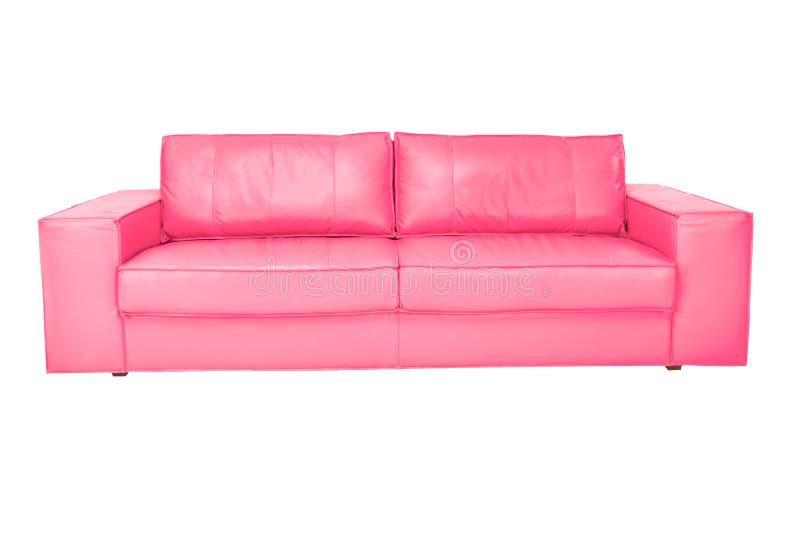 Cuir confortable de couleur de trois sièges photographie stock