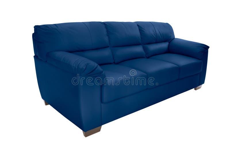 Cuir confortable de trois sièges photographie stock