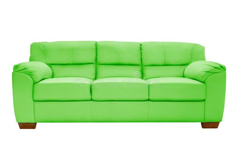 Cuir confortable de trois sièges image libre de droits