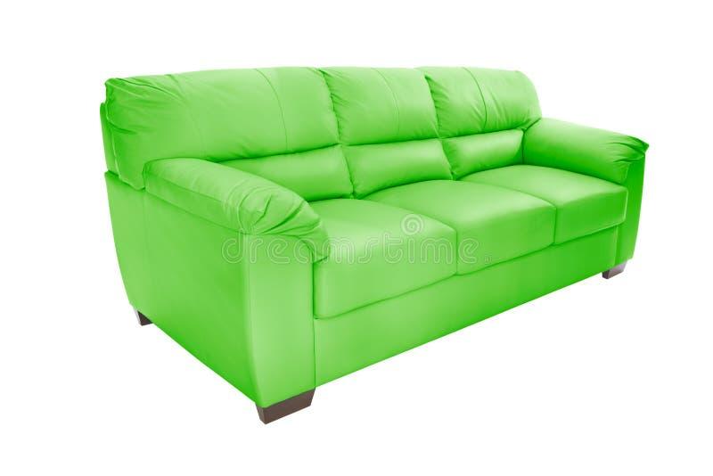 Cuir confortable de trois sièges photographie stock libre de droits