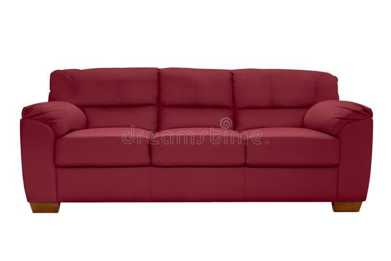 Cuir confortable de trois sièges photo libre de droits