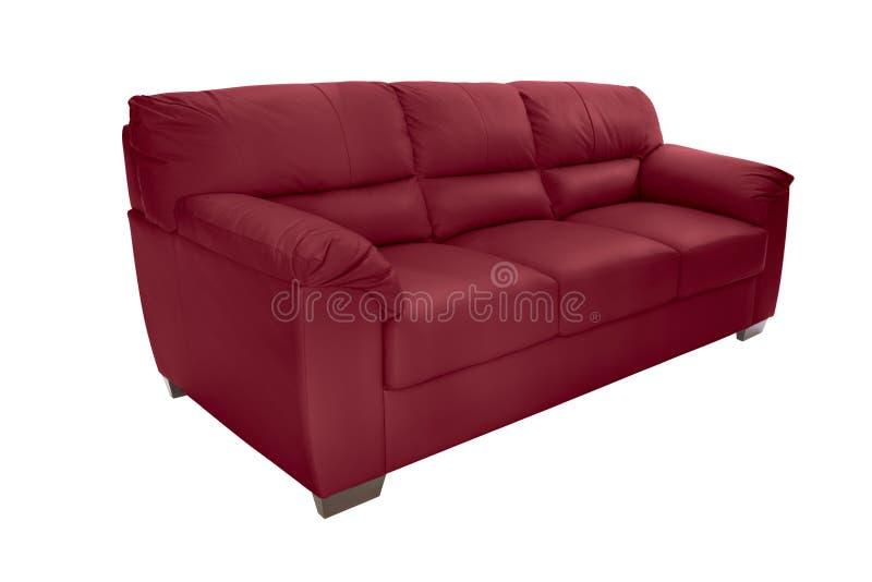 Cuir confortable de trois sièges image stock