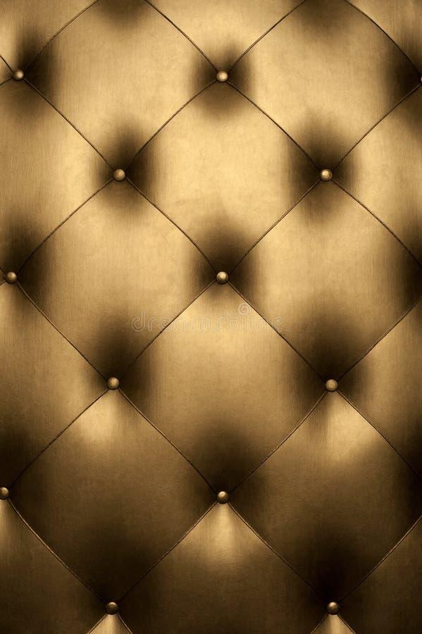 Cuir d'or de luxe image libre de droits