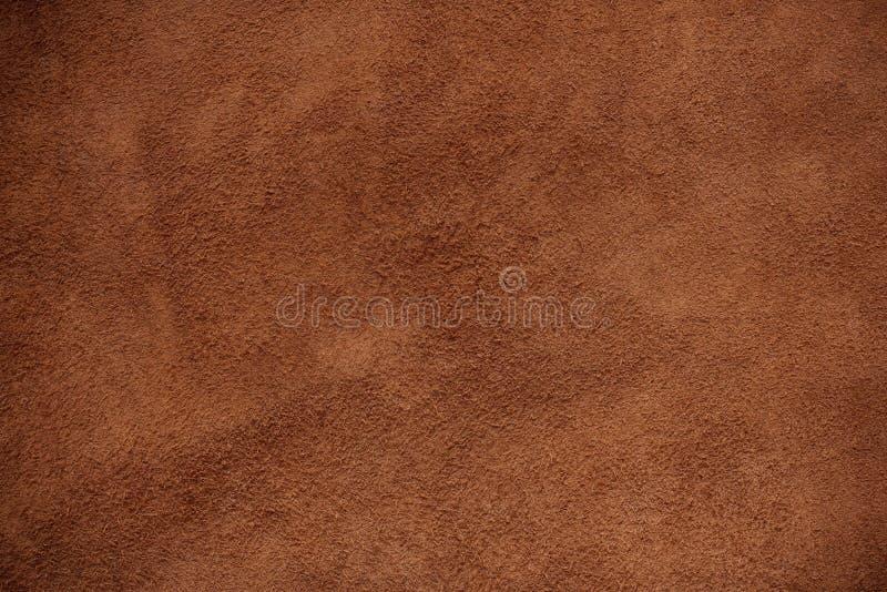 Cuir de Brown de fond image stock