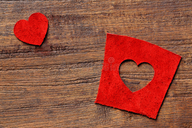 Cuir de forme de coeur images libres de droits