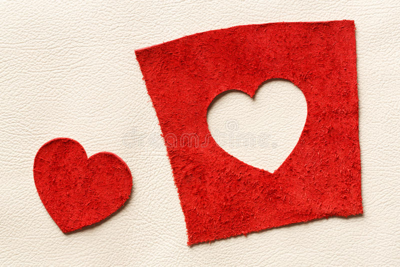 Cuir de forme de coeur image stock
