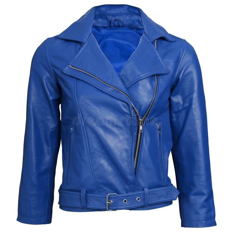 cuir de jupe bleue photographie stock