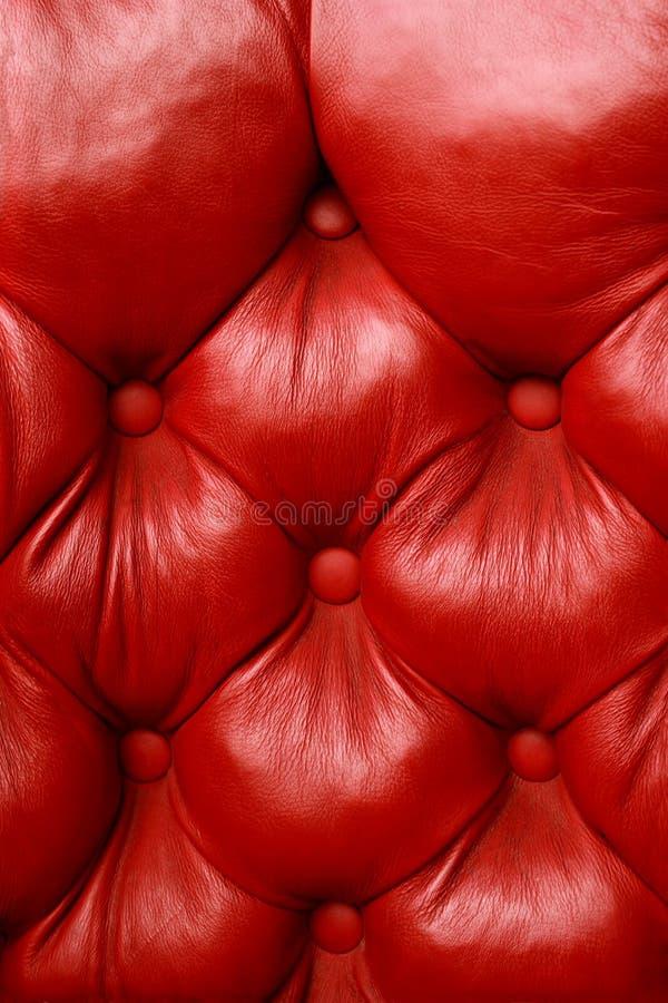 Cuir de rouge de peluche photographie stock libre de droits