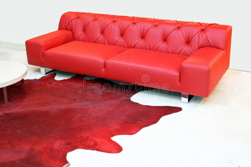 Cuir rouge photographie stock