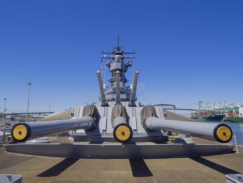 Cuirassé USS Iowa photographie stock libre de droits