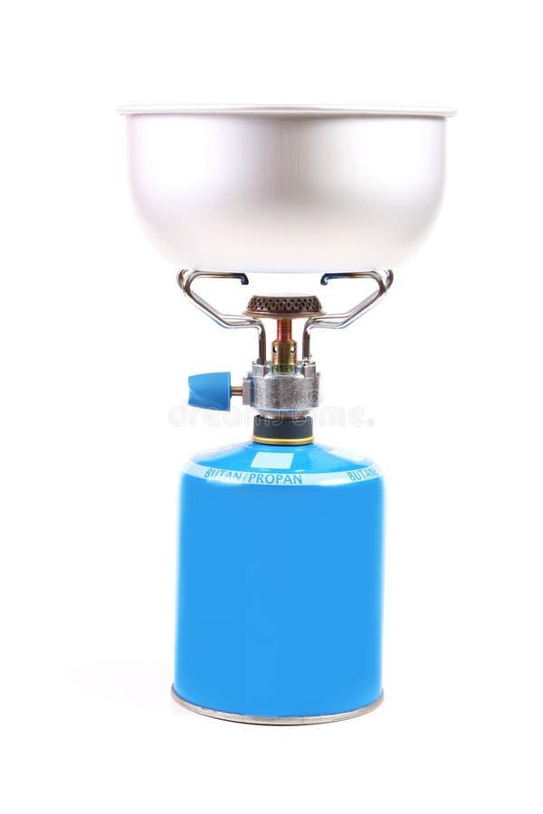 Cuiseur de gaz campant images stock