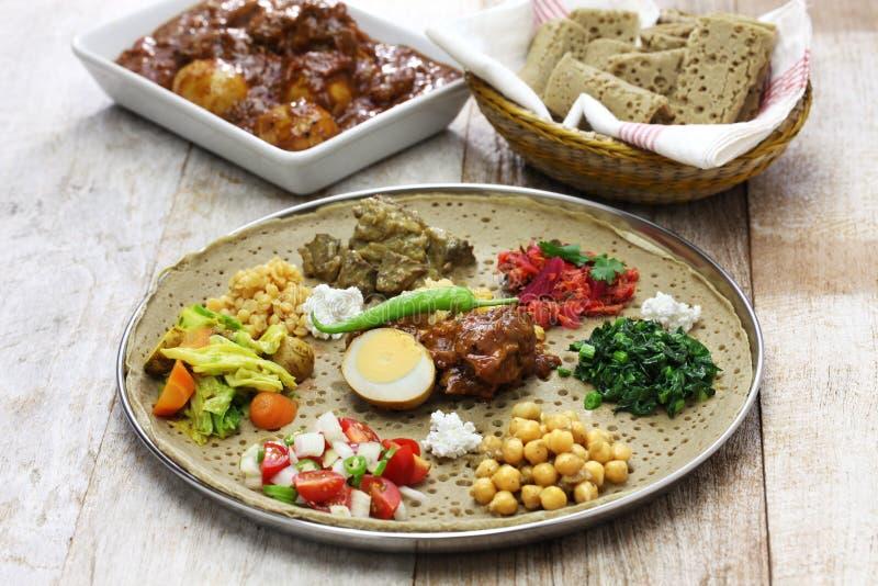 Cuisine éthiopienne Photo Stock Image Du Fractionnement - Cuisine ethiopienne