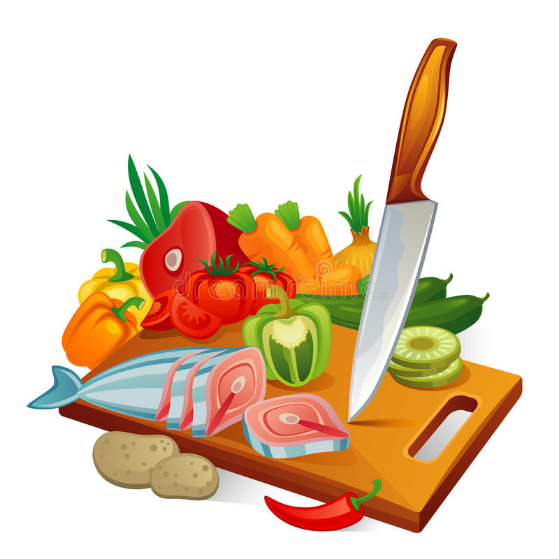 Cuisine illustration stock