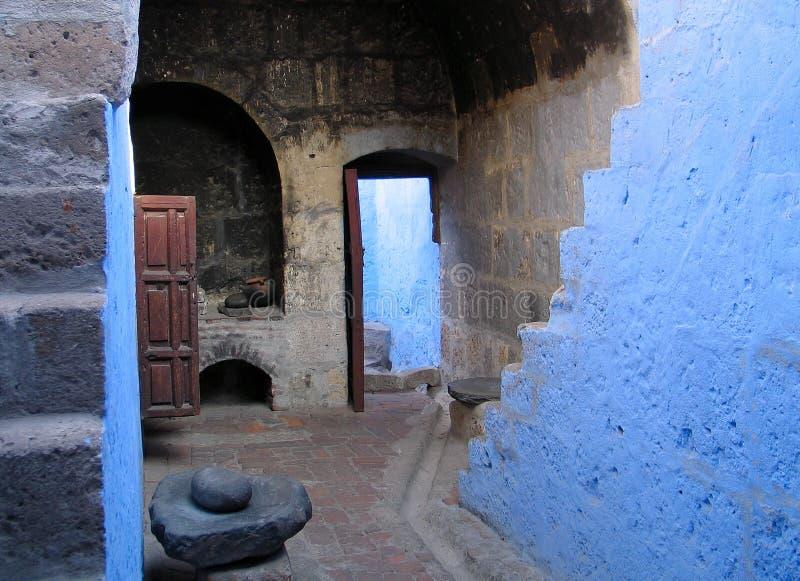 Cuisine antique de monastère photo stock