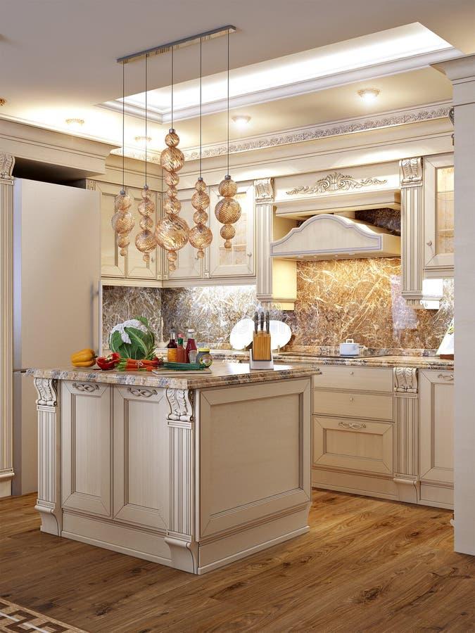 Cuisine Baroque Classique Luxueuse Et Salle à Manger