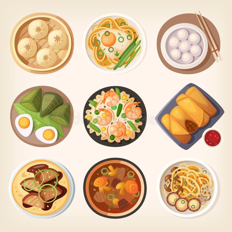 Cuisine chinoise illustration de vecteur