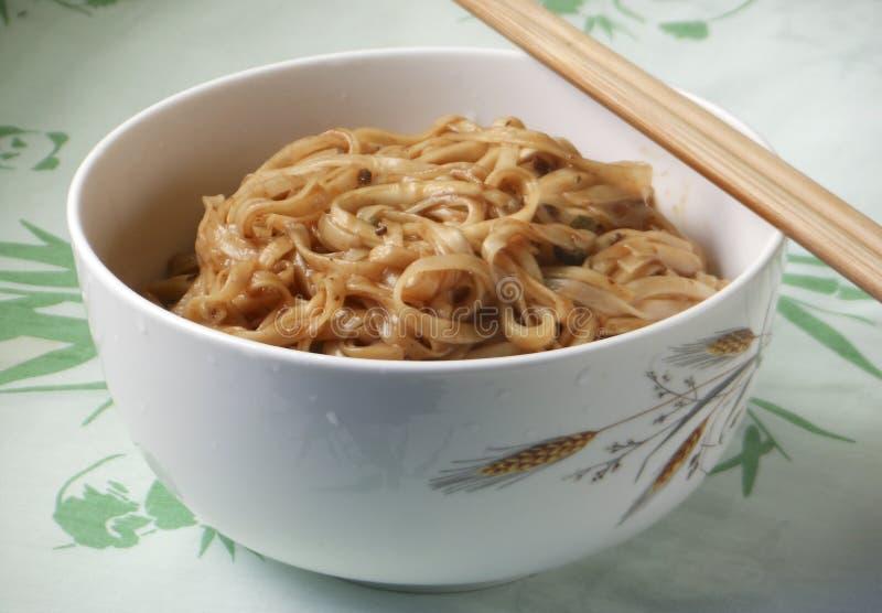 Cuisine chinoise coréenne Jajangmyeon photo stock