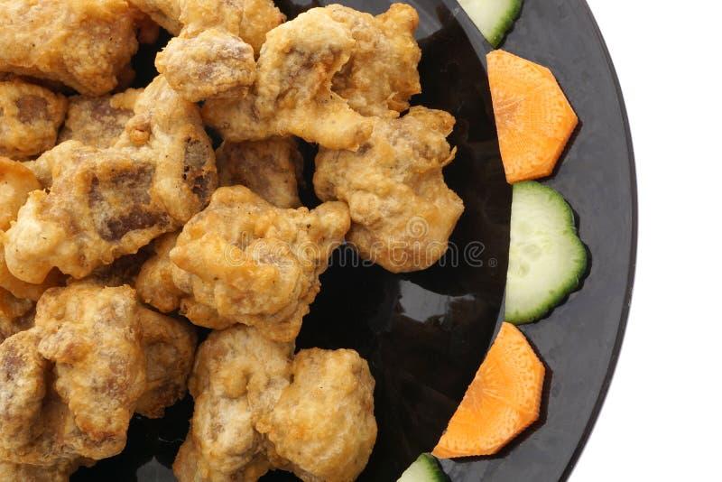 Cuisine chinoise Nourriture chinoise Nervures de porc sèches frites photographie stock