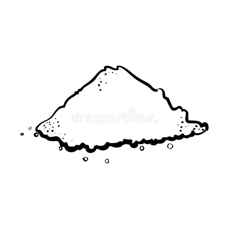 Cuisine culinaire de sel de pile d'ensemble illustration libre de droits