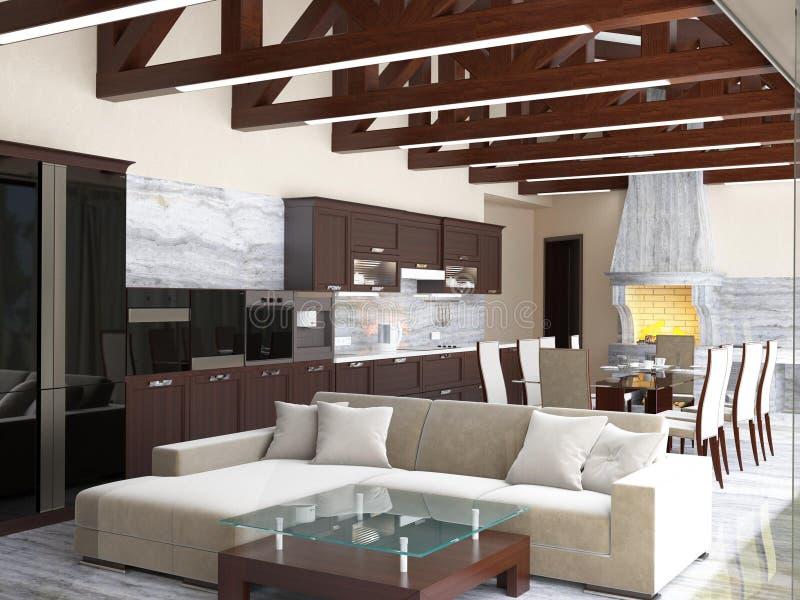 cuisine d 39 une maison de campagne photo stock image. Black Bedroom Furniture Sets. Home Design Ideas