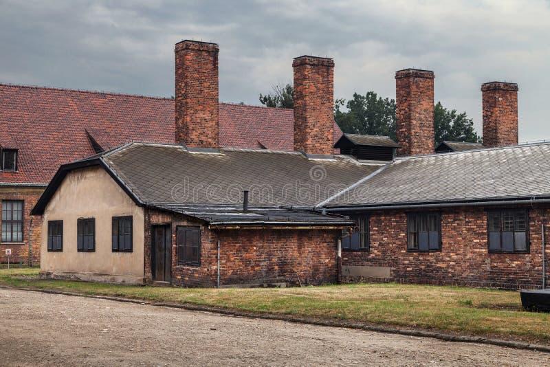 Cuisine de camp d'Auschwitz image libre de droits