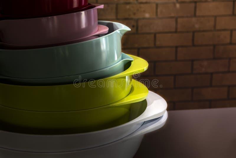 Cuisine de différentes couleurs image libre de droits