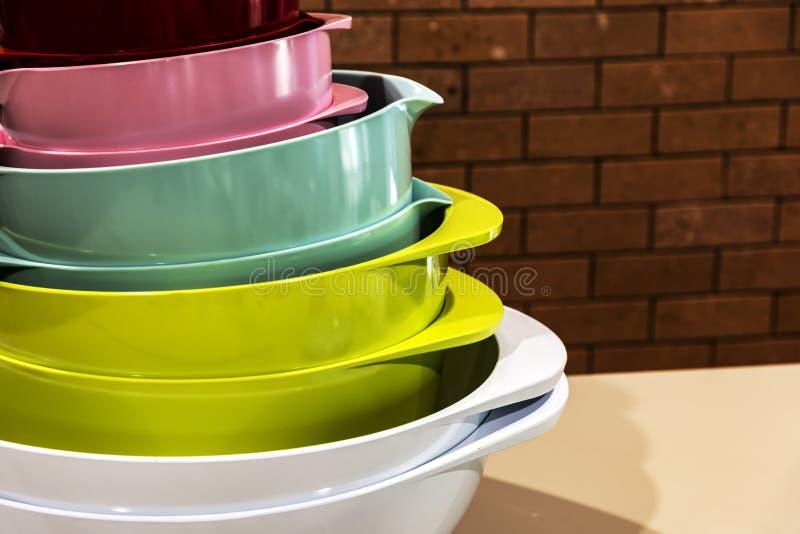 Cuisine de différentes couleurs images libres de droits