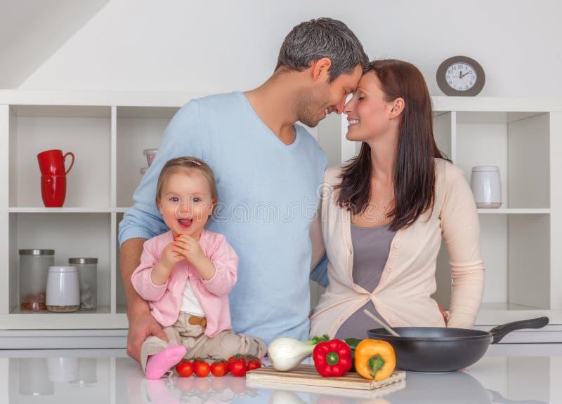 Cuisine de famille image stock