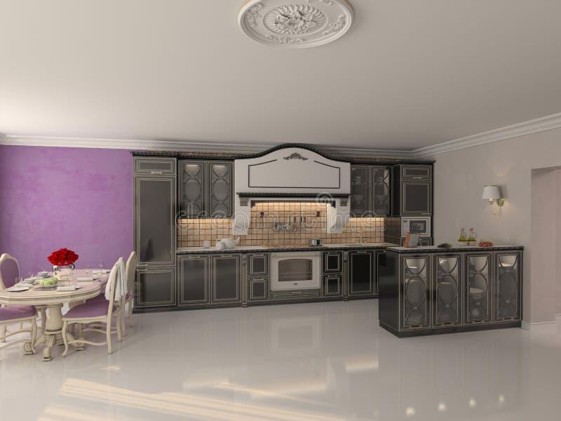 Cuisine de luxe illustration de vecteur
