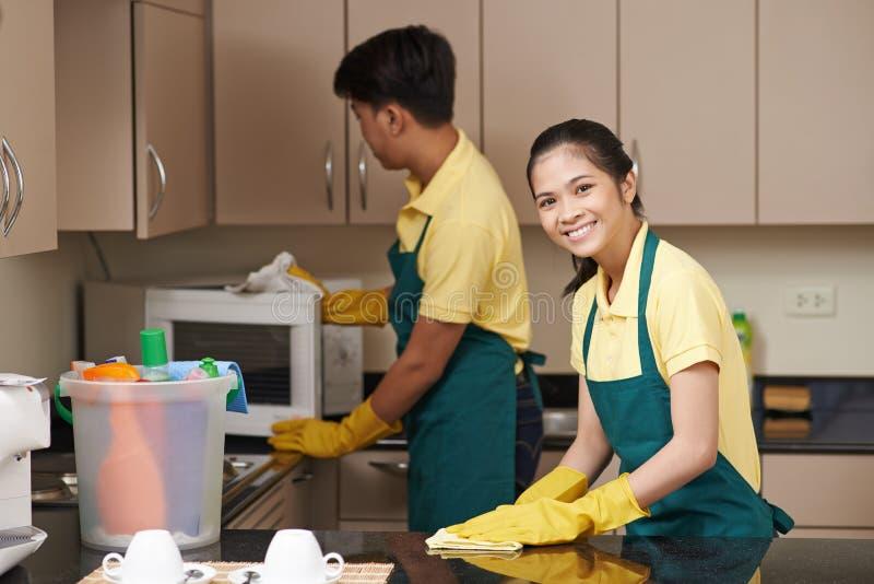 Cuisine de nettoyage photo stock