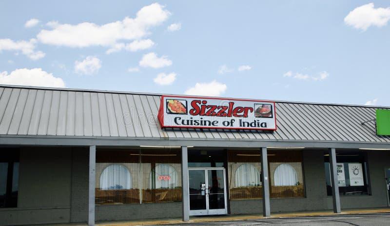 Cuisine de Sizzler d'Inde, Jackson TN image libre de droits