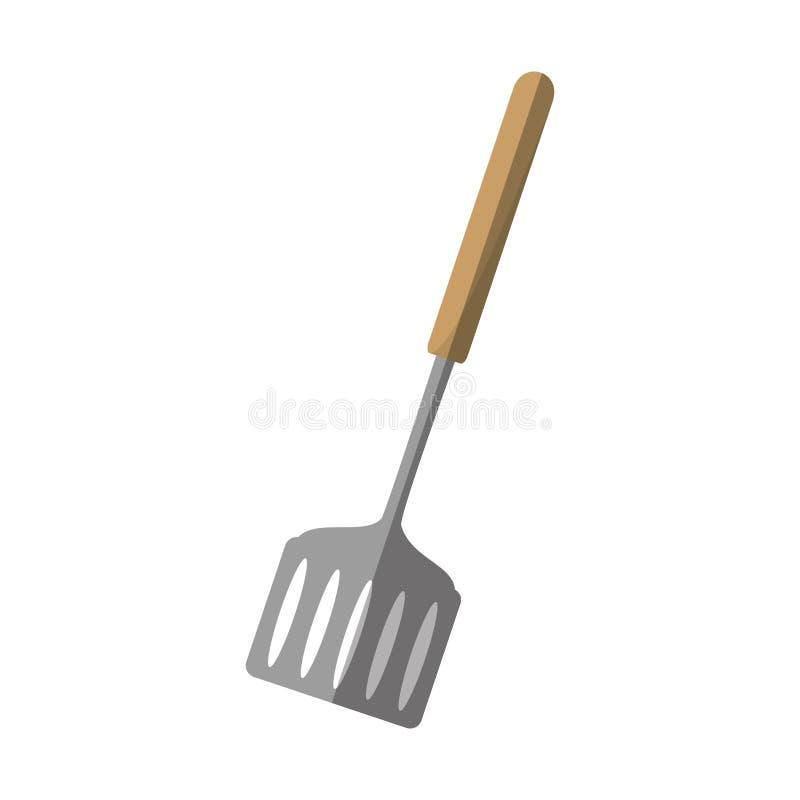 cuisine de spatule et ombre de batteries de cuisine illustration de vecteur