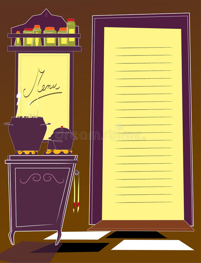 Cuisine et carte illustration libre de droits