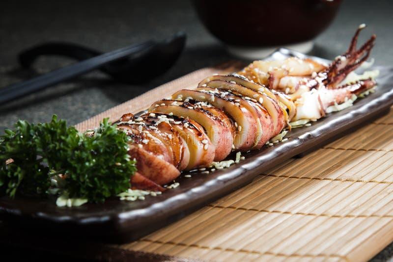 Cuisine fraîche et savoureuse de fruits de mer photographie stock