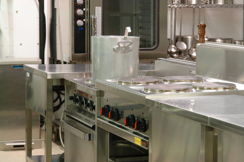 Cuisine industrielle professionnelle image stock