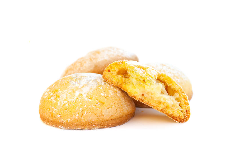 Cuisine italienne traditionnelle - biscuits image libre de droits