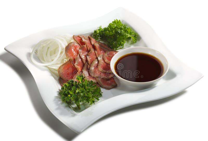 Cuisine japonaise - coupures de boeuf photo stock