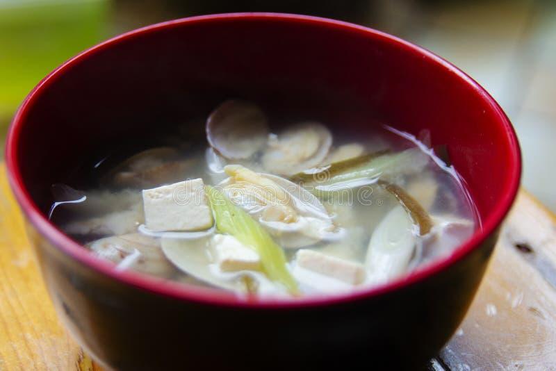 Cuisine japonaise -- soupe miso photo libre de droits