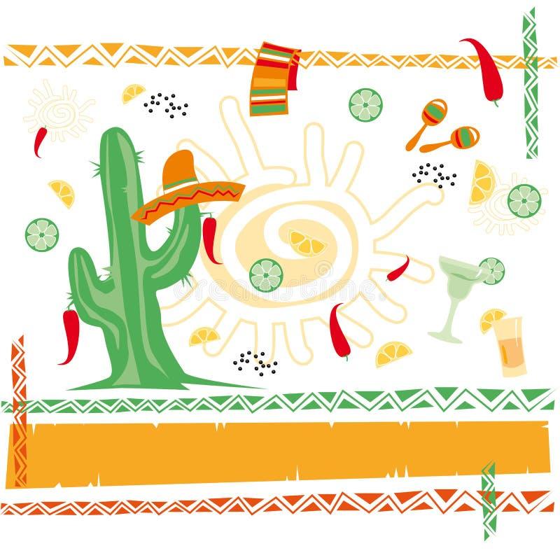 Cuisine mexicaine illustration de vecteur