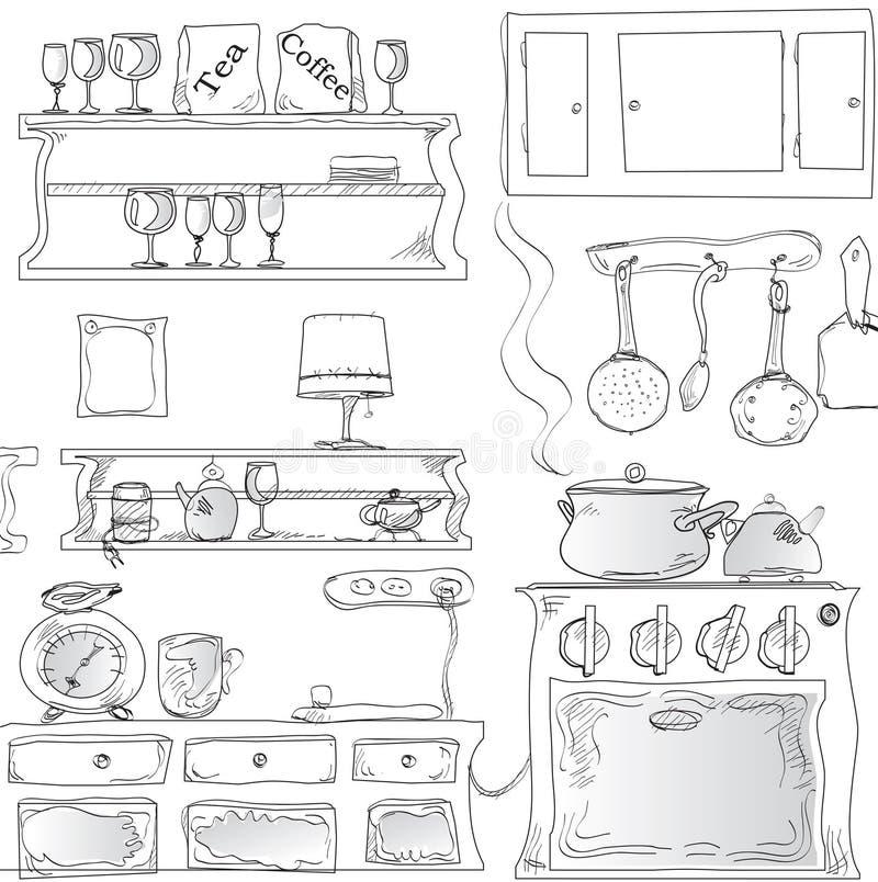 Cuisine moderne illustration de vecteur