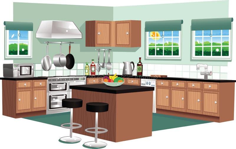 Cuisine moderne illustration stock